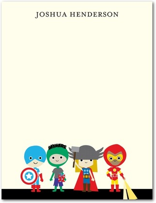 Free Super Hero Thank You Cards from Tiny Prints   Comic Con Family