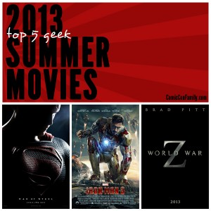 Top 5 Geek Summer Movies 2013