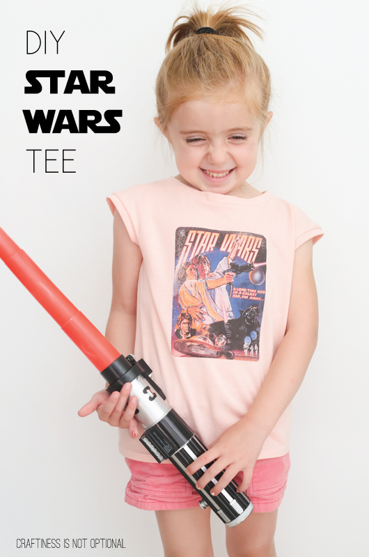 DIY Vintage Star Wars Tee by Craftiness is not Optional