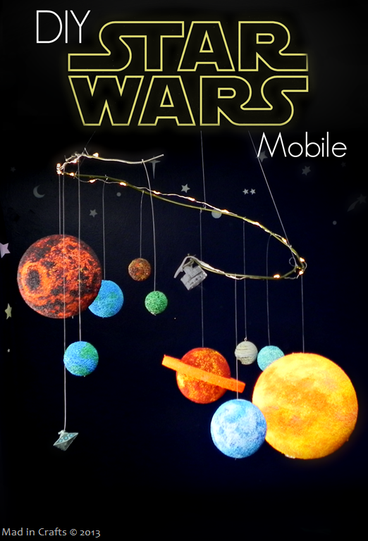 DIY Stars Wars Planet Mobile by Mad in Crafts