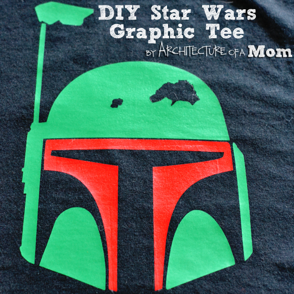 DIY Boba Fett Star Wars Graphic Tee by Architecture of a Mom
