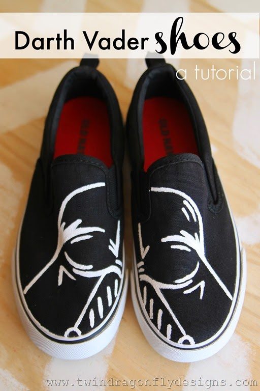Darth Vader Shoes Tutorial by Twin Dragonflies Designs