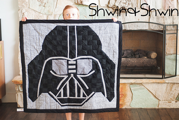 Darth Vader Quilt (Free Pattern) by Shiwn and Shiwn