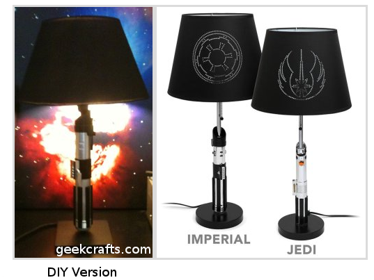 DIY Star Wars Light Saber Lamp by Geek Crafts