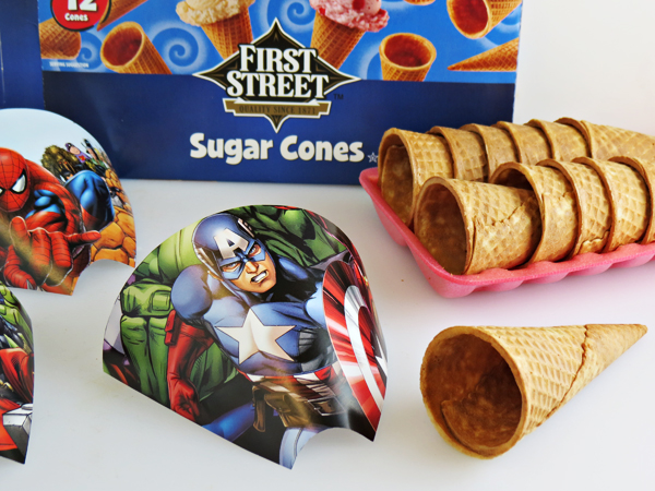 Superhero Ice Cream Cones Wrapper Pattern