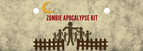 Free Printable: Zombie Apocalypse Kit Label
