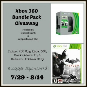Xbox 360 Bundle Pack Giveaway (ends 8/14)