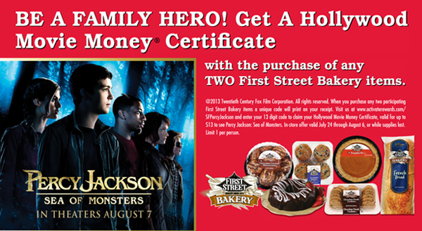 Free Percy Jackson Movie Ticket at Smart and Final
