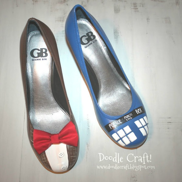 Doctor Who Painted Heels
