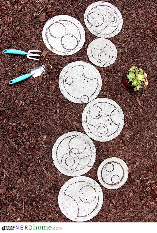 DIY Doctor Who Stepping Stones