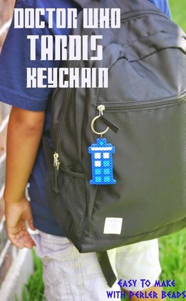 Doctor Who Tardis Keychain