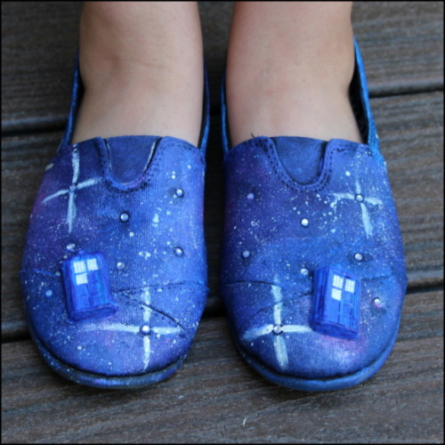 Doctor Who Inspired Galaxy Shoes