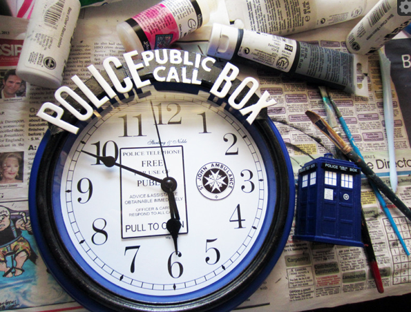 DIY Tardis- Clock