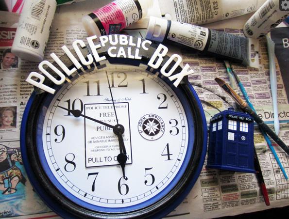 DIY Tardis- Clock