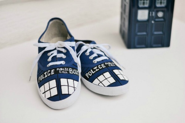 diy tardis shoes