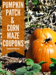 Pumpkin Patch and Corn Maze Coupons