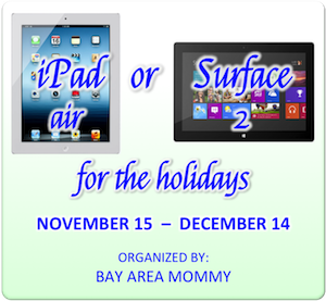 iPad Air or Surface 2 Giveaway! (ends 12/14)