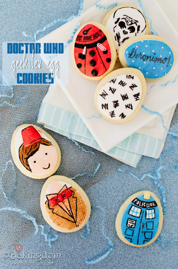 Doctor Who Geekster Egg Cookies