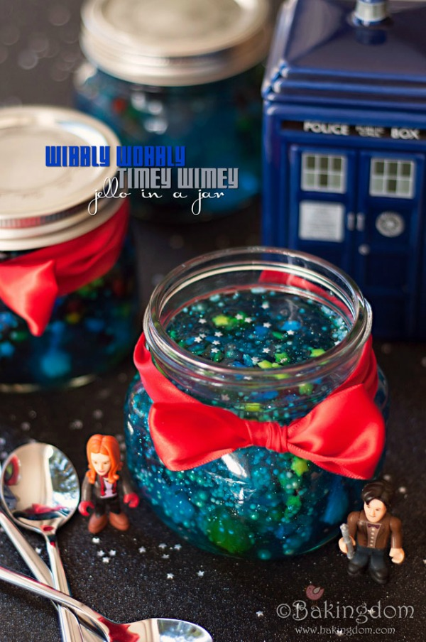 Doctor Who Wibbly Wobbly Timey Wimey Jello in a Jar