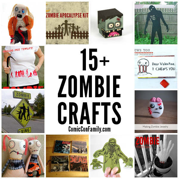 15+ Zombie Crafts -- fun DIY ideas for the zombie fans of all ages