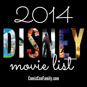 Disney Movie List for 2014