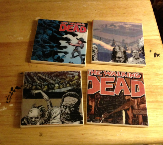 Walking Dead DIY Coasters