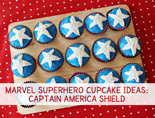 captain america shield cupcakes