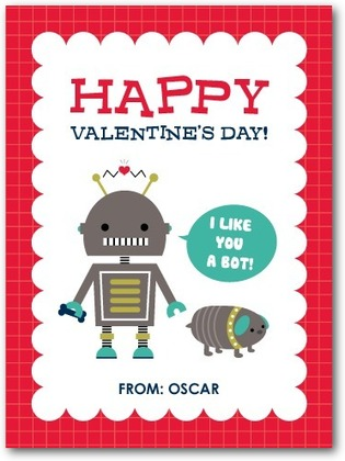 """I Like You A Bot"" Valentine Cards"