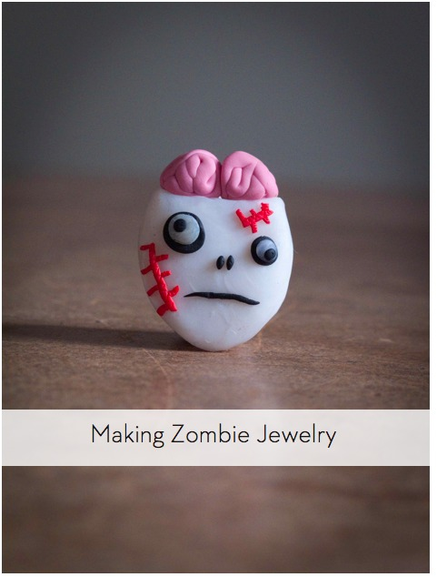 How to make zombie jewelry with sculpting clay