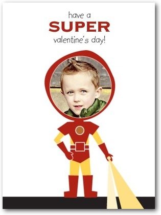 """Superhero Sweet"" Valentine Card (add your child's photo; sold in multiples)"