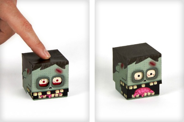 Zombie paper toy