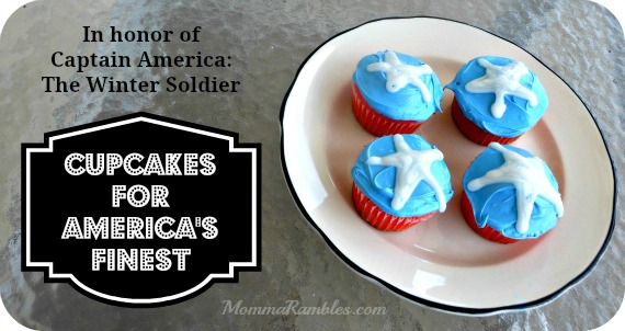 captain america cupcakes for americas finest