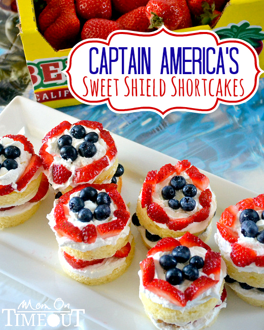 captain americas sweet shield shortcakes