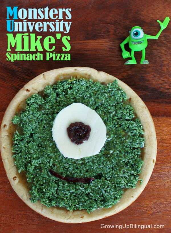 monster university mikes spinach pizza