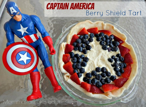 captain america berry tart
