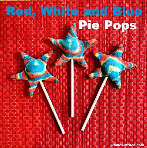 red white and blue pie pops