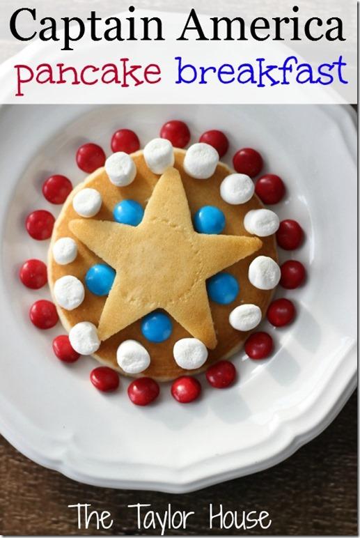 captain america pancakes