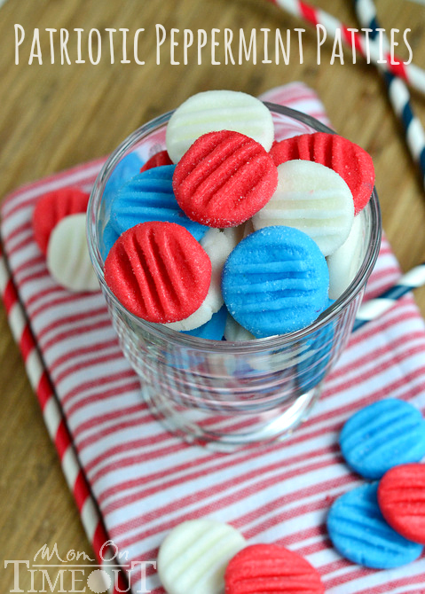 red white and blue patriotic peppermint patties