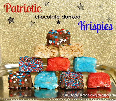 patriotic chocolate dunked krispies