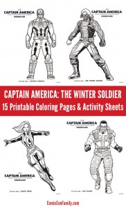 Captain America - The Winters Soldier Coloring Pages and Activity Sheets