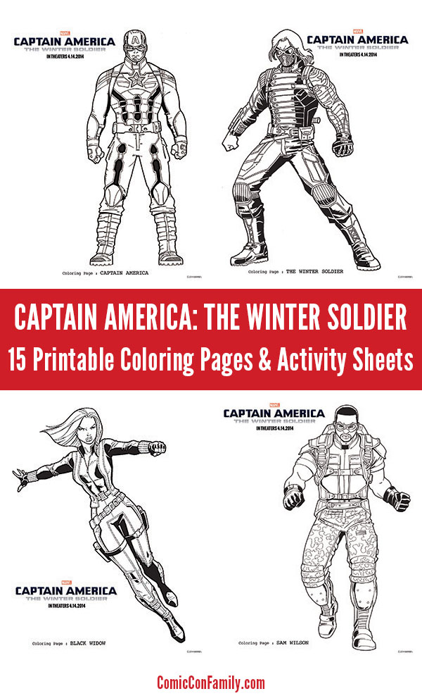 Captain America: The Winter Soldier Coloring Pages & Activity Sheets ...
