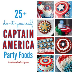 25+ DIY Captain America Party Foods (do-it-yourself recipes & ideas)
