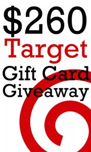 $260 Target Gift Card Giveaway! (ends 10/3)