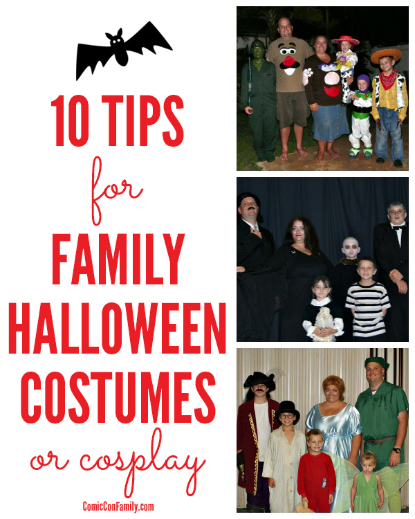 10 Best Tips for Family Halloween Costumes or Cosplay - make your experience successful, fun, and memory making!