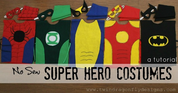 DIY No Sew Super Hero Costumes by Twin Dragonfly Designs