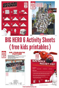 Free Kids Printables: BIG HERO 6 Activity Sheets