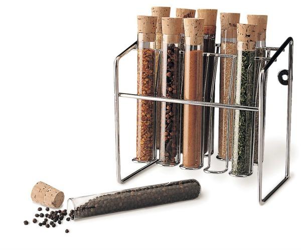 Spice Rack - Glass Spice Tube Set
