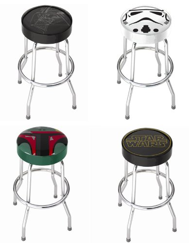 Star Wars Movie Series Kitchen Counter Bar Stool with Foot Rest - 4PC Collectors Set