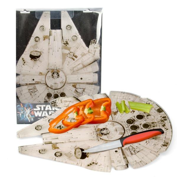 """Star Wars Cutting Board - Millennium Falcon Acrylic Chopping Board (15""""x11)"""