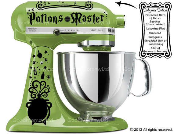Harry Potter inspired Kitchen Aid stand mixer